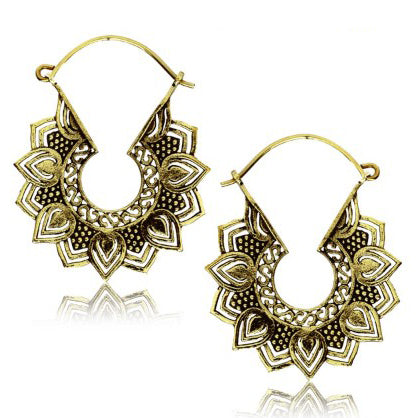 Yellow Brass Cina Earrings