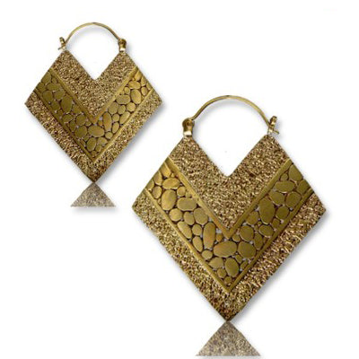 Yellow Brass Pashmina Earrings