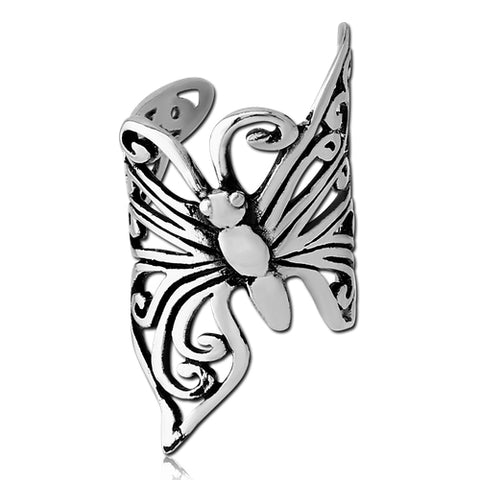 Stainless Butterfly Ear Cuff
