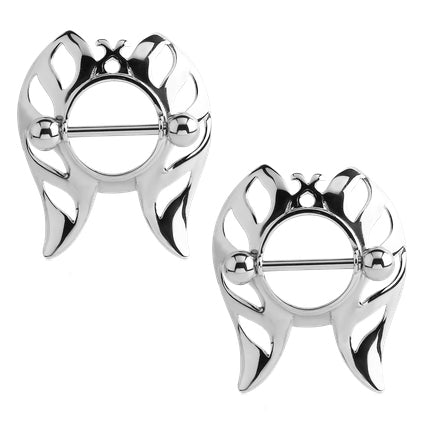 Stainless Butterfly Nipple Shields