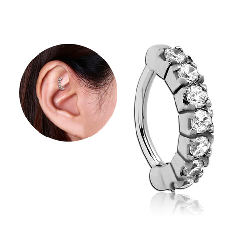 Stainless CZ Paved Cartilage Clicker
