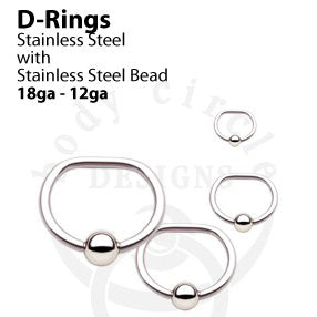 Captive D-Ring by Body Circle Designs