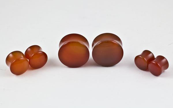 Carnelian Plugs by Oracle Body Jewelry