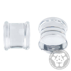 Double Flare Clear Plugs by Glasswear Studios