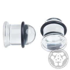 Single Flare Clear Plugs by Glasswear Studios
