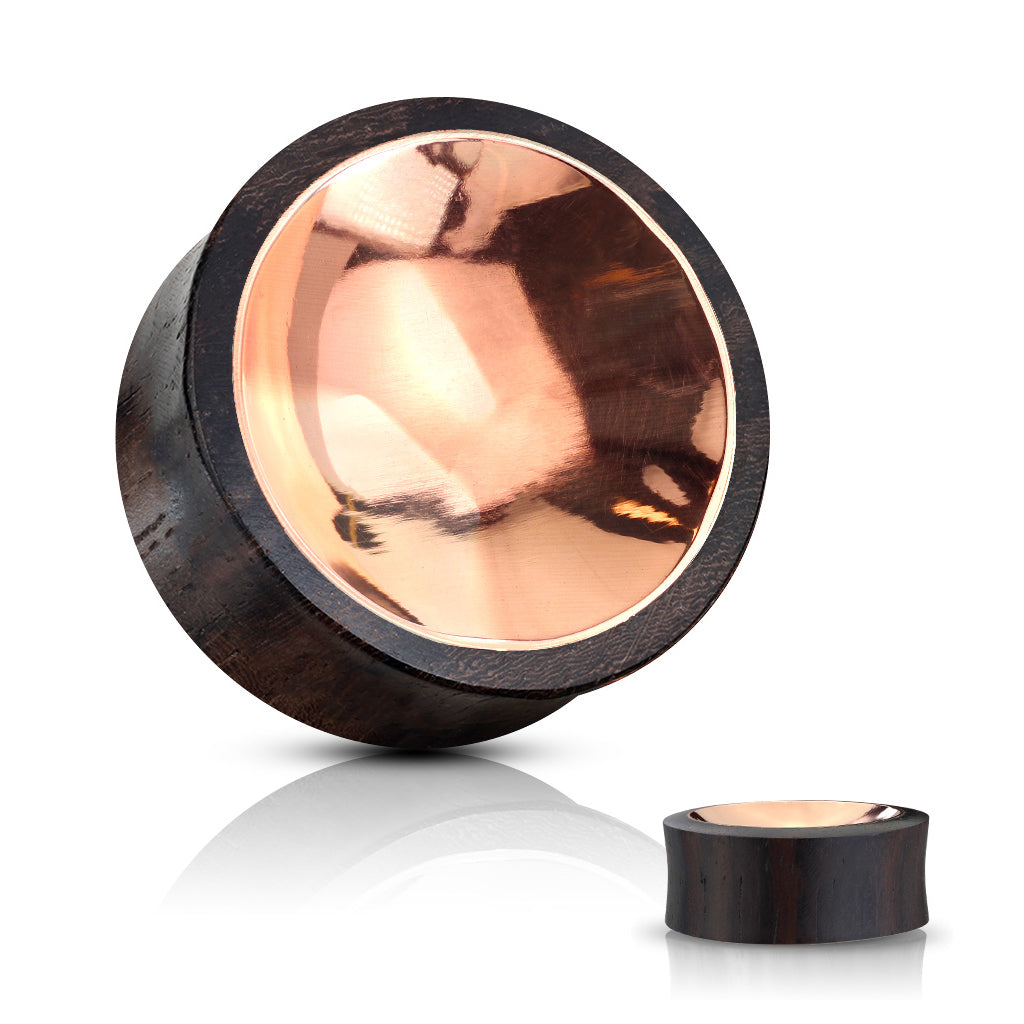 Copper Inlay Sono Wood Plugs