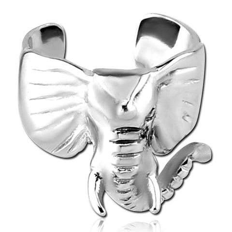 Stainless Elephant Ear Cuff