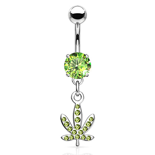 Ganja Bling Belly Dangle