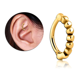 Gold Plated Beaded Cartilage Clicker