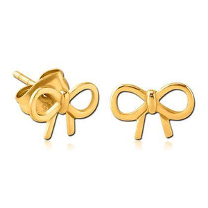 Gold Plated Bow Earrings