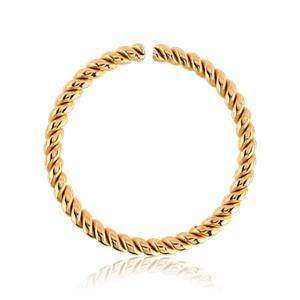 Gold Plated Braided Continuous Ring