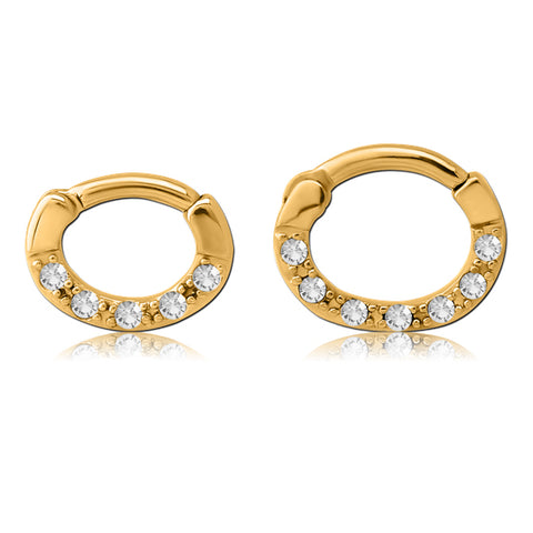 Gold CZ Septum Clicker
