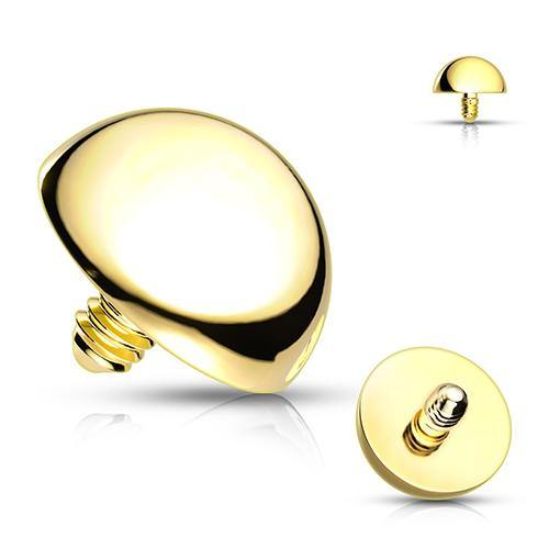 16g Gold Plated Dome