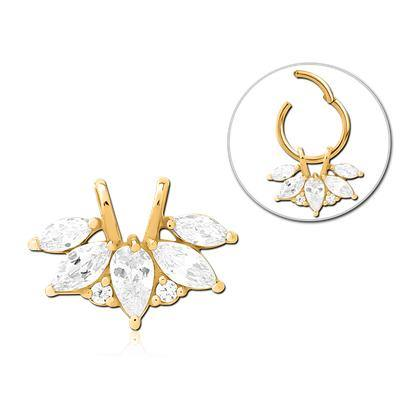 Gold Plated Fancy CZ Ring Charm
