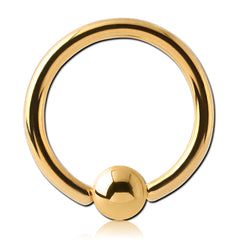 Gold Plated Captive Bead Ring