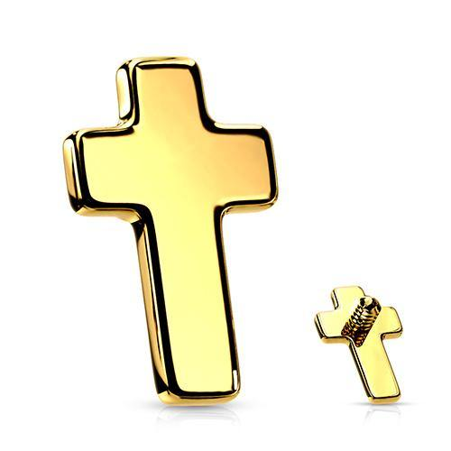 14g Gold Plated Cross