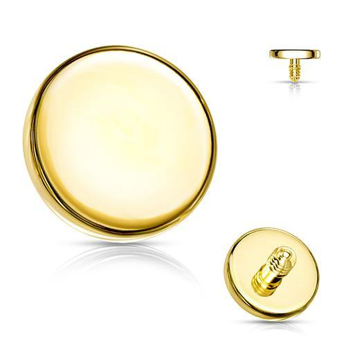 14g Gold Plated Disc