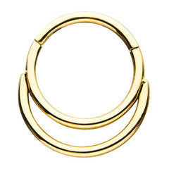 Gold Plated Double Stack Hinged Ring