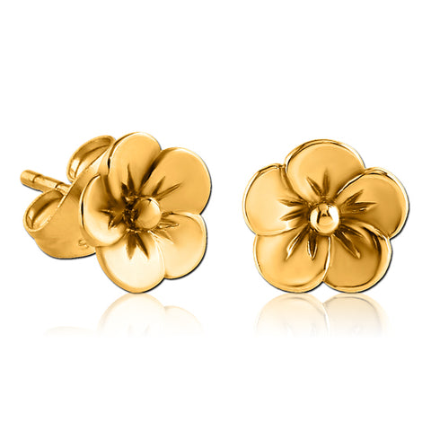 Gold Plated Flower Earrings