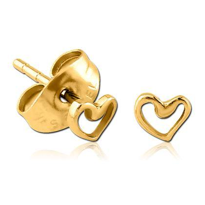 Gold Plated Heart Outline Earrings