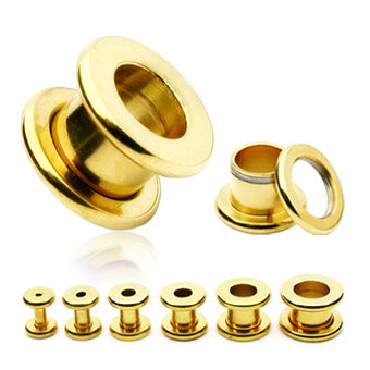 Gold Plated Screw-On Tunnels