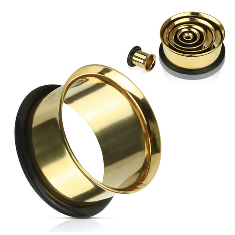 Single Flare Gold Plated Tunnels