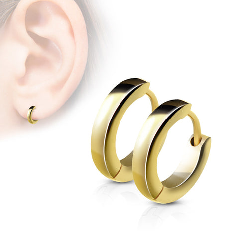 Gold Plated Small Hinged Hoop Earrings