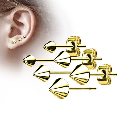 Gold Plated Spike Earrings