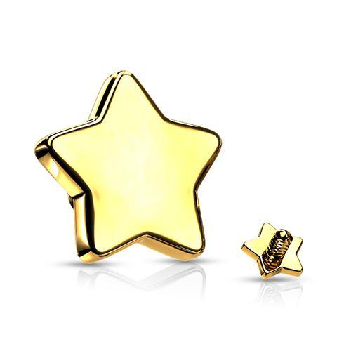 16g Gold Plated Flat Star