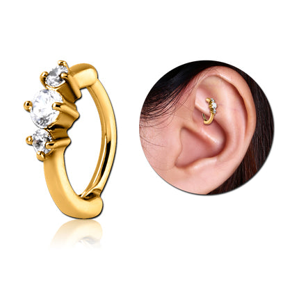 Gold Plated CZ Cartilage Clicker