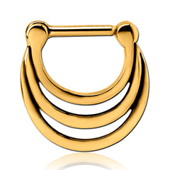 Gold Plated Triple Stack Septum Clicker