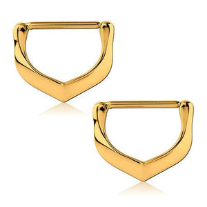Gold Plated V-Shape Nipple Clickers