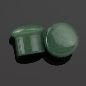 Green Aventurine Single Flare Plugs by Diablo Organics