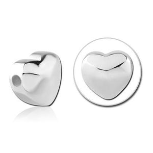6mm Stainless Heart Replacement Bead