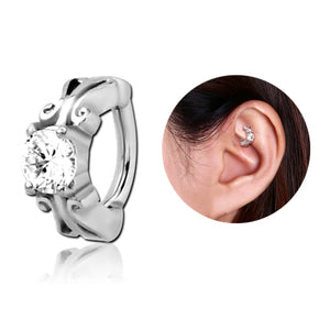 Stainless Jewelled Cartilage Clicker