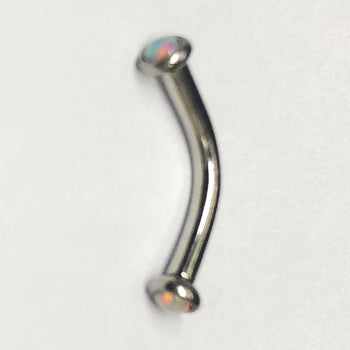 Stainless Micro Opal Curved Barbell