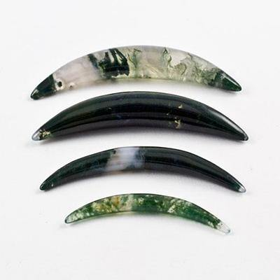 Moss Agate Septum Tusk by Oracle Body Jewelry