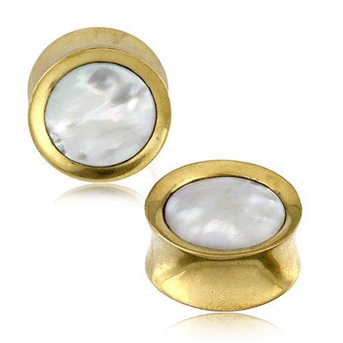 Mother of Pearl & Brass Plugs