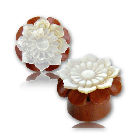 Mother of Pearl Lotus Plugs