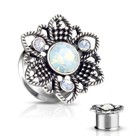 Opalite Flower Filigree Plugs