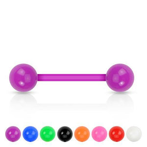 14g Opaque Bioflex Barbell - Tulsa Body Jewelry