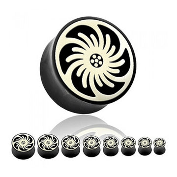 Pinwheel Inlay Horn Plugs