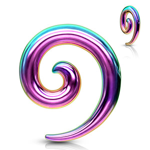 Rainbow Anodized Spirals