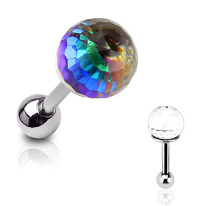 Crystal Ball Cartilage Barbell