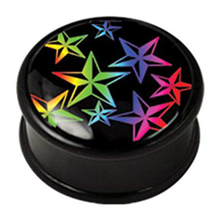 Rainbow Nautical Star Plugs