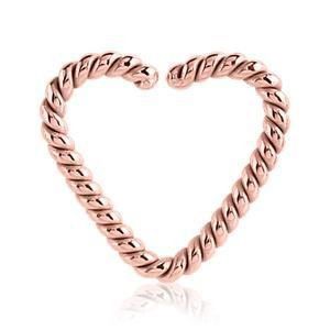 Rose Gold Braided Heart Shaped Ring Tulsa Body Jewelry