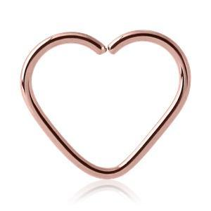 Rose Gold Plated Heart Shaped Ring