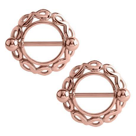 Infinity Rose Gold Plated Nipple Shields