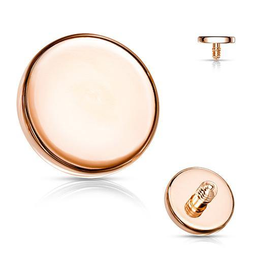 14g Rose Gold Plated Disc