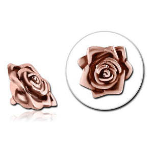 14g Rose Gold Plated Rose